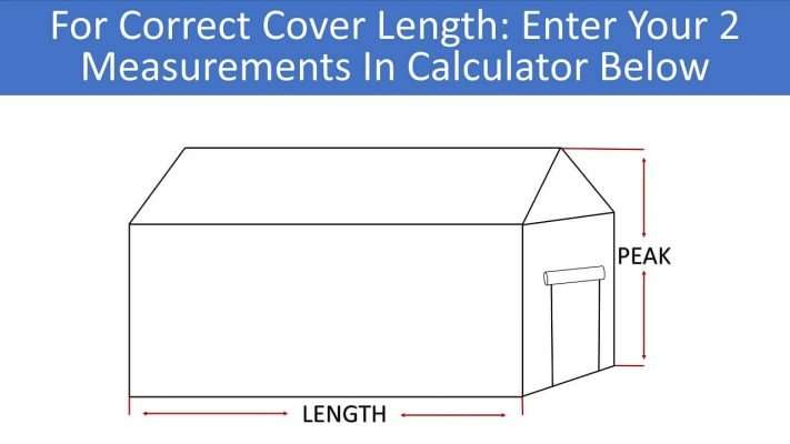 SYMBYS Greenhouse Cover Size Calculator